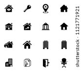 vector house buildings icons...