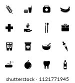 vector health care icons set.... | Shutterstock .eps vector #1121771945