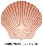 summer beach scallop sea shell... | Shutterstock .eps vector #112177781