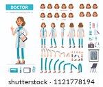 doctor woman character... | Shutterstock . vector #1121778194