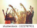 nightlife and disco concept.... | Shutterstock . vector #1121787911