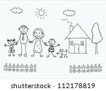 happy family holding hands   Shutterstock .eps vector #112178819