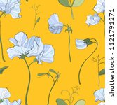 pretty floral pattern with... | Shutterstock .eps vector #1121791271