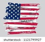 grunge usa flag. american flag...   Shutterstock .eps vector #1121795927