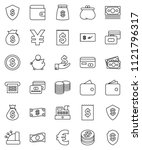 thin line vector icon set  ...   Shutterstock .eps vector #1121796317