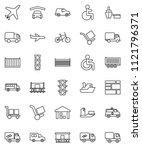 thin line vector icon set  ... | Shutterstock .eps vector #1121796371