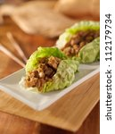 Asian Lettuce Wrap With Minced...