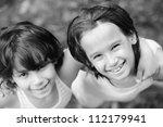 closeup portrait of a little...   Shutterstock . vector #112179941