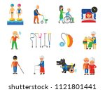 disabled icon set. blind... | Shutterstock .eps vector #1121801441