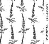 vector black and white seamless ... | Shutterstock .eps vector #1121810591