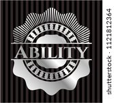 ability silvery badge | Shutterstock .eps vector #1121812364