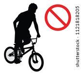 forbidden extreme sport game ... | Shutterstock .eps vector #1121818205