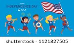 american children of various... | Shutterstock .eps vector #1121827505