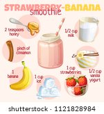 smoothie recipe illustration... | Shutterstock .eps vector #1121828984