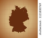 map of germany   Shutterstock .eps vector #1121830769