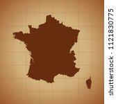 map of france   Shutterstock .eps vector #1121830775