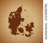 map of denmark   Shutterstock .eps vector #1121830781