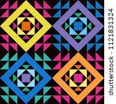 simple seamless patchwork... | Shutterstock . vector #1121831324