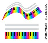 illustration of colorful piano ... | Shutterstock . vector #1121831327