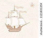 illustration of ancient... | Shutterstock . vector #1121831354