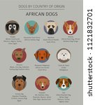 dogs by country of origin.... | Shutterstock .eps vector #1121832701