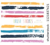 brush strokes set backgrounds.... | Shutterstock .eps vector #1121837621