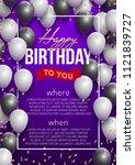 happy birthday vector... | Shutterstock .eps vector #1121839727