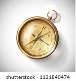 realistic 3d compass luxury and ... | Shutterstock .eps vector #1121840474