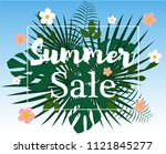 summer sale colorful background.... | Shutterstock .eps vector #1121845277