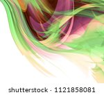 bright colored and white modern ... | Shutterstock . vector #1121858081