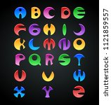 colorful jelly alphabets for... | Shutterstock .eps vector #1121859557