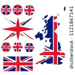 the flag of britain and the... | Shutterstock .eps vector #1121867141