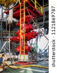 blowout preventer valve  bop ...   Shutterstock . vector #1121869787