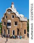 barcelona  spain   june 23 ...   Shutterstock . vector #1121870111