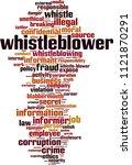whistleblower word cloud... | Shutterstock .eps vector #1121870291