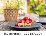 Piece Of Strawberry Pie On A...