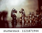chess game leader ship on... | Shutterstock . vector #1121871944