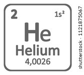 periodic table element helium... | Shutterstock .eps vector #1121875067