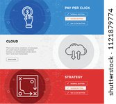strategy  cloud  pay per click... | Shutterstock .eps vector #1121879774