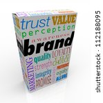 Постер, плакат: The word Brand on