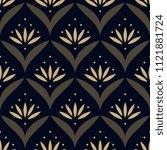 Gold Lotus Ethnic Pattern....