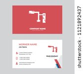 welder business card design... | Shutterstock .eps vector #1121892437
