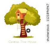Wooden Kid House On Tree....