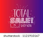 sale banner vector template.... | Shutterstock .eps vector #1121910167