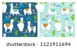 vector seamless pattern with... | Shutterstock .eps vector #1121911694