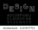 vector minimalistic font  ... | Shutterstock .eps vector #1121917721