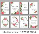 floral poster  invite. vector... | Shutterstock .eps vector #1121926304