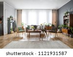 real photo of a spacious ...   Shutterstock . vector #1121931587