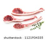 lamb chops isolated on white   Shutterstock . vector #1121934335
