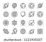 set of world map vector line... | Shutterstock .eps vector #1121935337